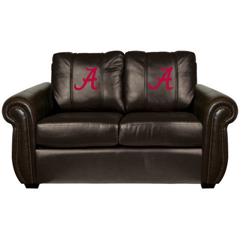 Alabama Crimson Tide Collegiate Chesapeake Love Seat With  Red A Logo