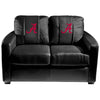Image of Alabama Crimson Tide Collegiate Silver Love Seat With  Red A Logo