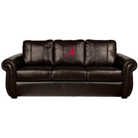 Alabama Crimson Tide Collegiate Chesapeake Sofa With  Red A Logo