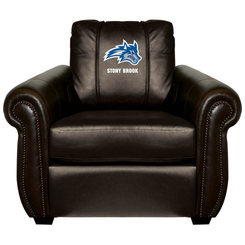 Stony Brook Seawolves Collegiate Chesapeake Chair With Wolfie Logo