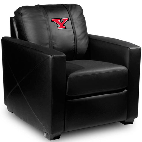 Youngstown State Penguins Collegiate Silver Chair With Secondary Logo