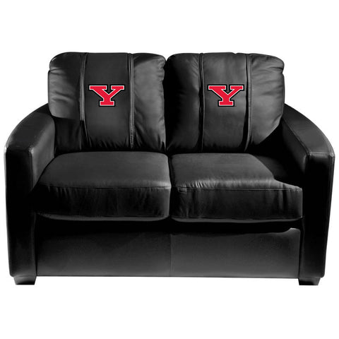 Youngstown State Penguins Collegiate Silver Love Seat With Secondary Logo