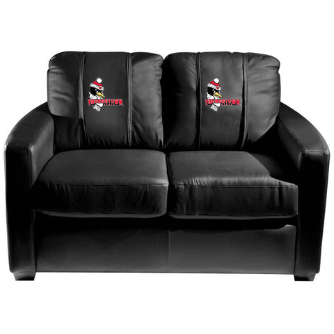 Youngstown State Penguins Collegiate Silver Love Seat With Pete Logo