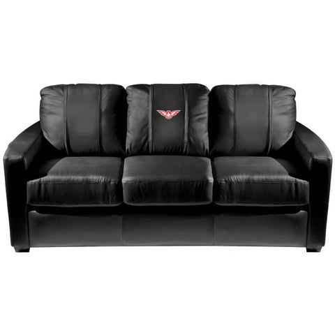 Atlanta Hawks NBA Silver Sofa With  Secondary Logo Panel