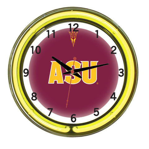 Arizona State Neon Wall Clock