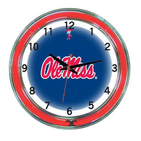 Mississippi Neon Wall Clock