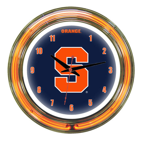 Syracuse Neon Wall Clock