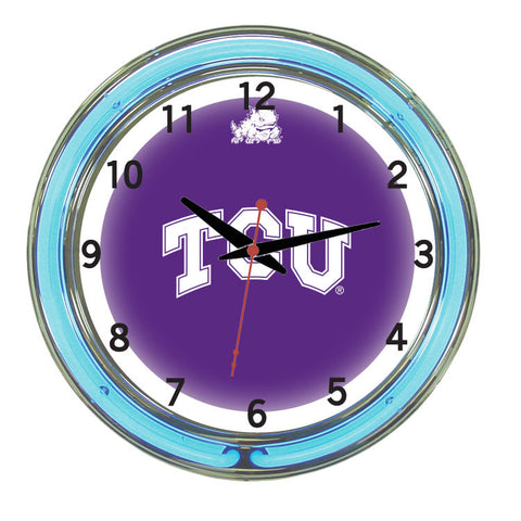 Tcu Neon Wall Clock