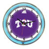 Image of Tcu Neon Wall Clock