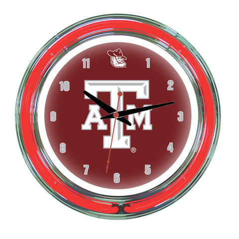 Texas A&M Neon Wall Clock