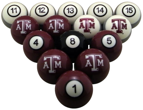 Texas A&M Aggies Billiard Ball Set