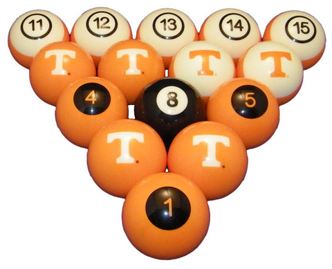 Tennessee Volunteers Billiard Ball Set
