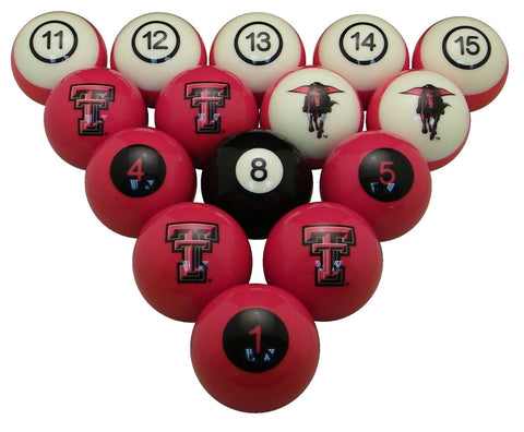 Texas Tech Red Raiders Billiard Ball Set