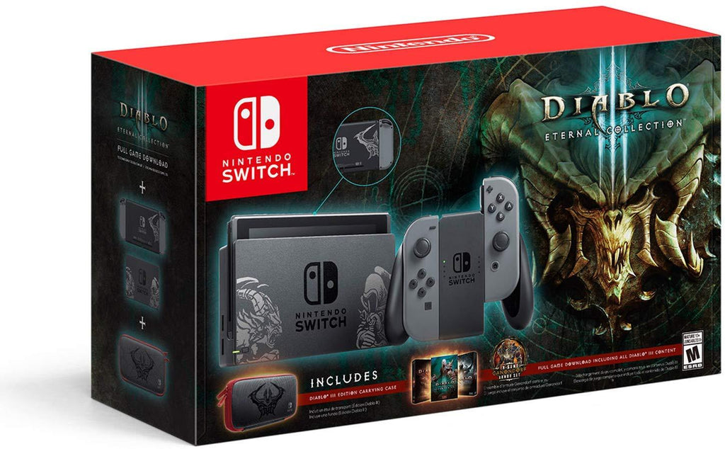 Nintendo Switch Console Diablo III Eternal Collection Edition Bundle - USED