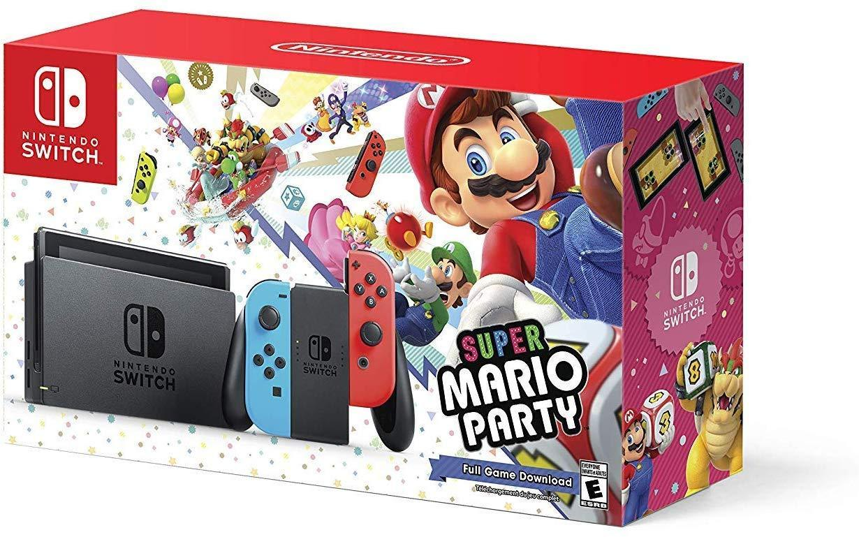 Nintendo Switch w/ Super Mario Party (Full Game Download) - Bundle Edition - USED