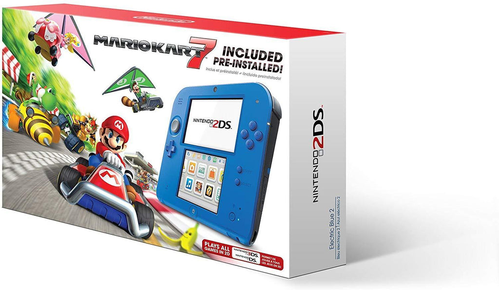 Nintendo 2DS - Electric Blue with Mario Kart 7 - USED