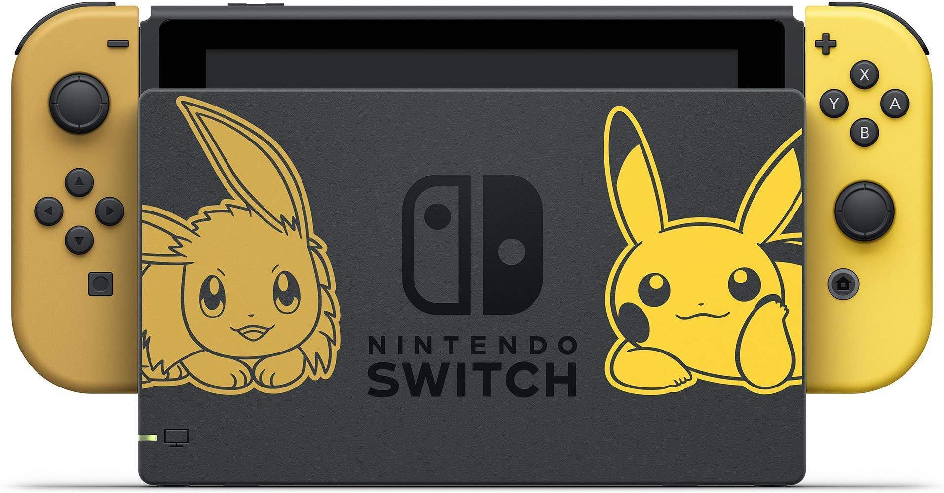 Nintendo Switch Console Bundle - Pikachu & Eevee Edition with Pokemon: Let's Go, Eevee! + Poke Ball Plus-USED