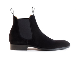 The Eclipse - Pure Black Chelsea Boot