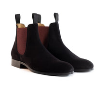 Load image into Gallery viewer, The Rise - Black & Crimson Chelsea Boot