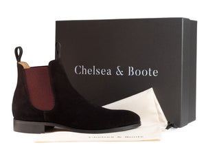 The Rise - Black & Crimson Chelsea Boot
