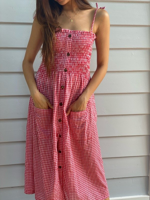 Alexa Gingham Dress-1-1