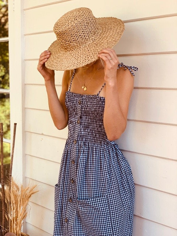Alexa-black-gingham-Dress-2