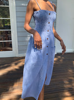 Alexa Indigo Gingham Dress