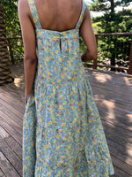 Arabella Green Floral Cotton Dress