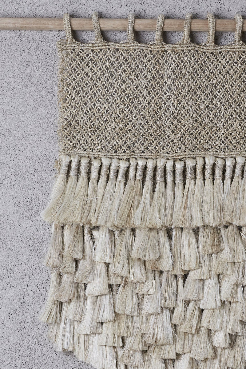 Wall Hanging - Natural Jute Tassels