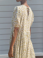 Cecilie White Cotton Floral Dress-3