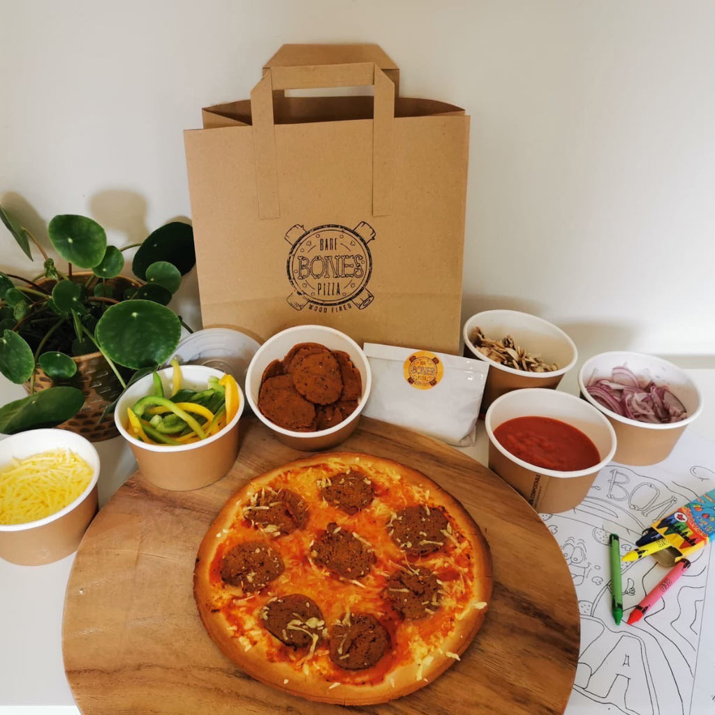 Gluten Free Vegetarian Pizza Kits for 4 - £9.99 per Pizza - Bare Bones Pizza