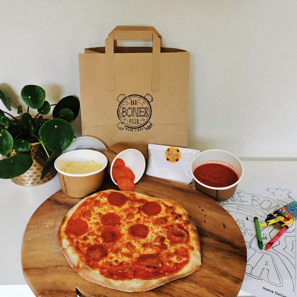 Pepperoni Pizza Kit for 2 - £7.50 per Pizza - Bare Bones Pizza