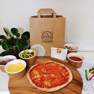 Vegan Pizza Kits for 4 - £6.25 per Pizza - Bare Bones Pizza