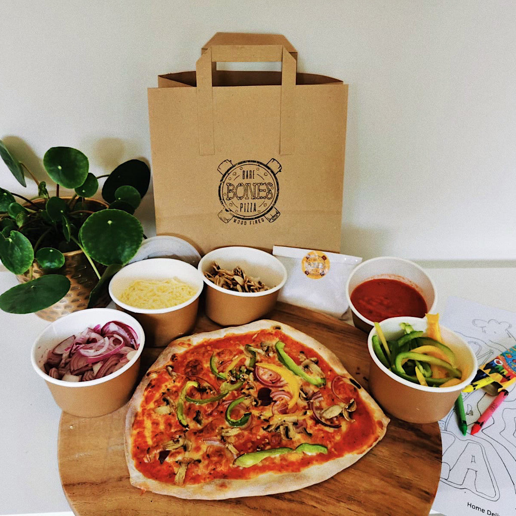 Vegetarian Pizza Kit for 4 - £5 per Pizza - Bare Bones Pizza
