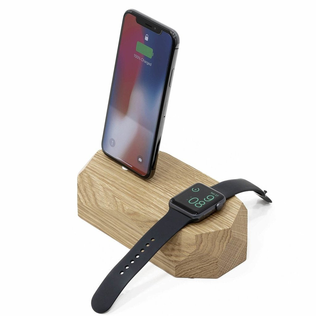 iPhone &  Watch Stand |--variant--| Oak