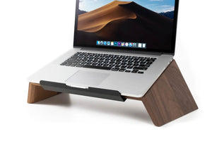 wooden laptop stand