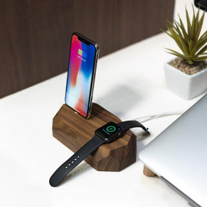 iphone apple watch stand |--variant--| Walnut