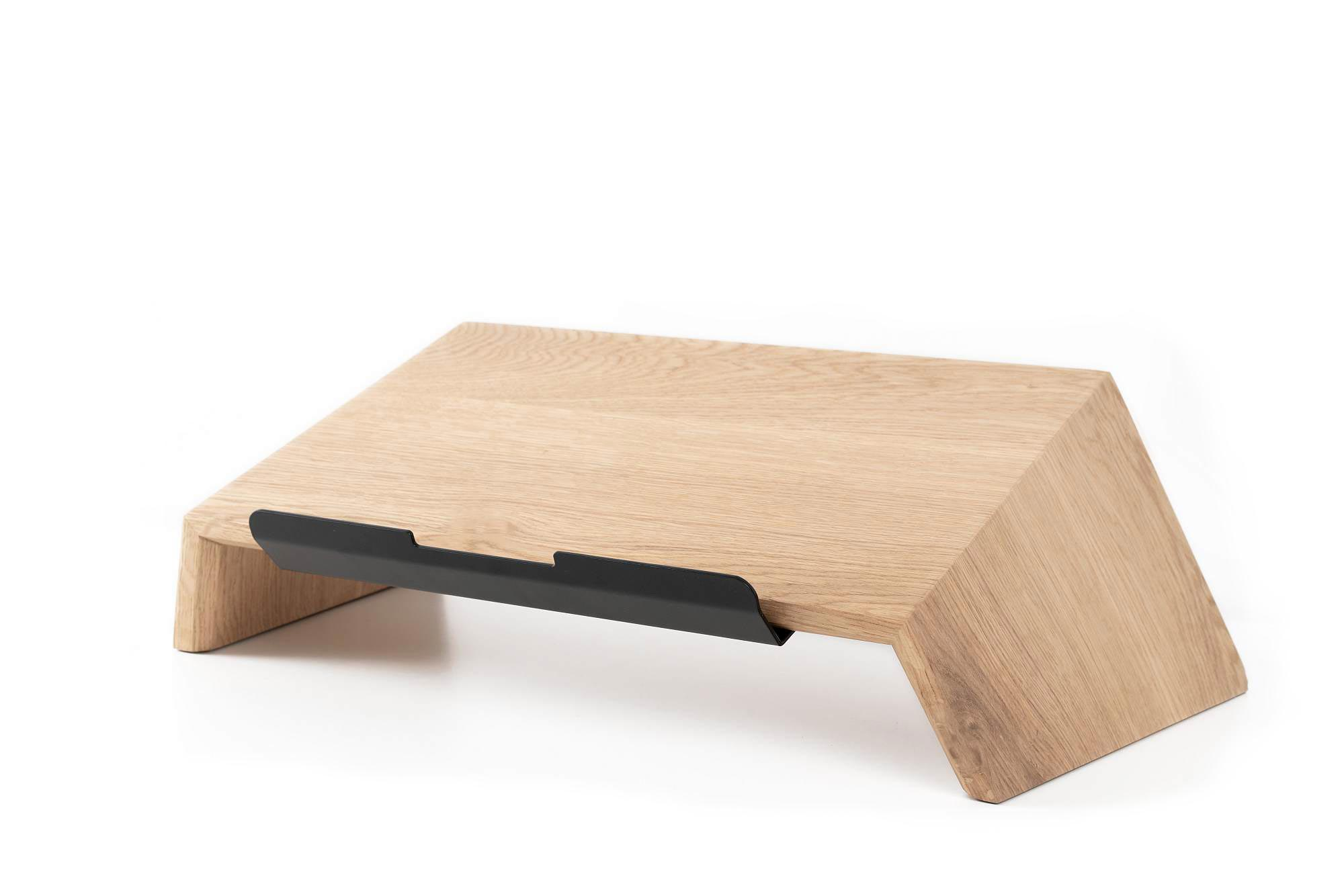 wooden laptop stand grovemade