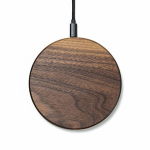 round wireless charging pad |--variant--|  Walnut