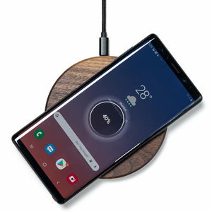 samsung wireless charging pad |--variant--|  Walnut