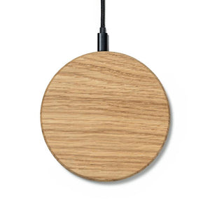 wooden slim wireless charging pad |--variant--|  Oak