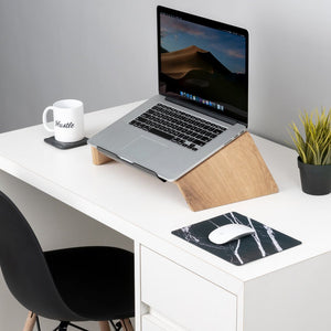 handcrafted wooden laptop stand