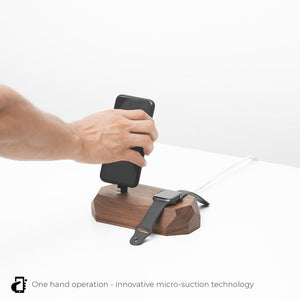 iphone apple watch charging station one hand |--variant--| Walnut