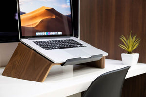 wooden laptop stand handmade