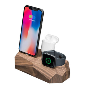 iPhone, Apple Watch, AirPods charger |--variant--| Walnut