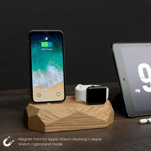 iphone apple watch dock |--variant--| Oak