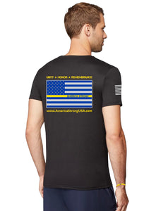 Men's Performance Short Sleeve T-Shirt, Unity Flag, Style #46000