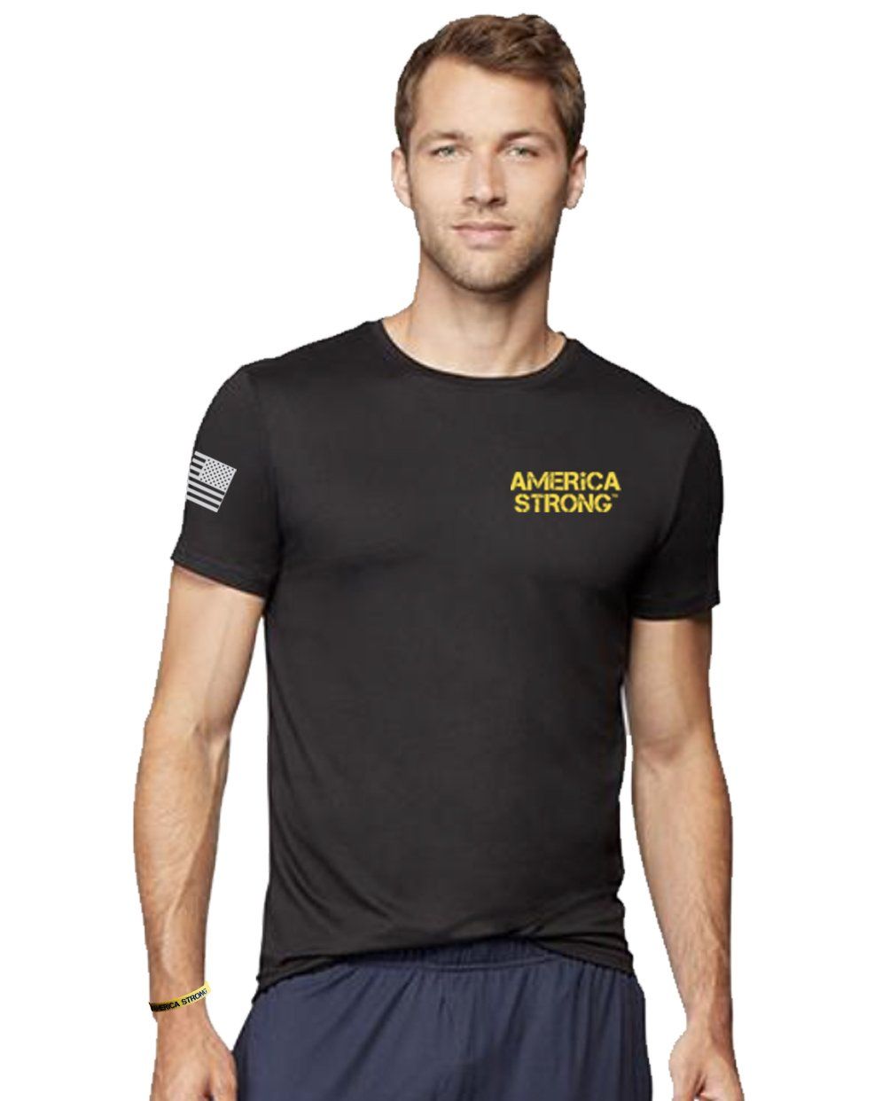 Men's Performance Short Sleeve T-Shirt, Mount Rushmore, Style #46001 - United First Responders Brands