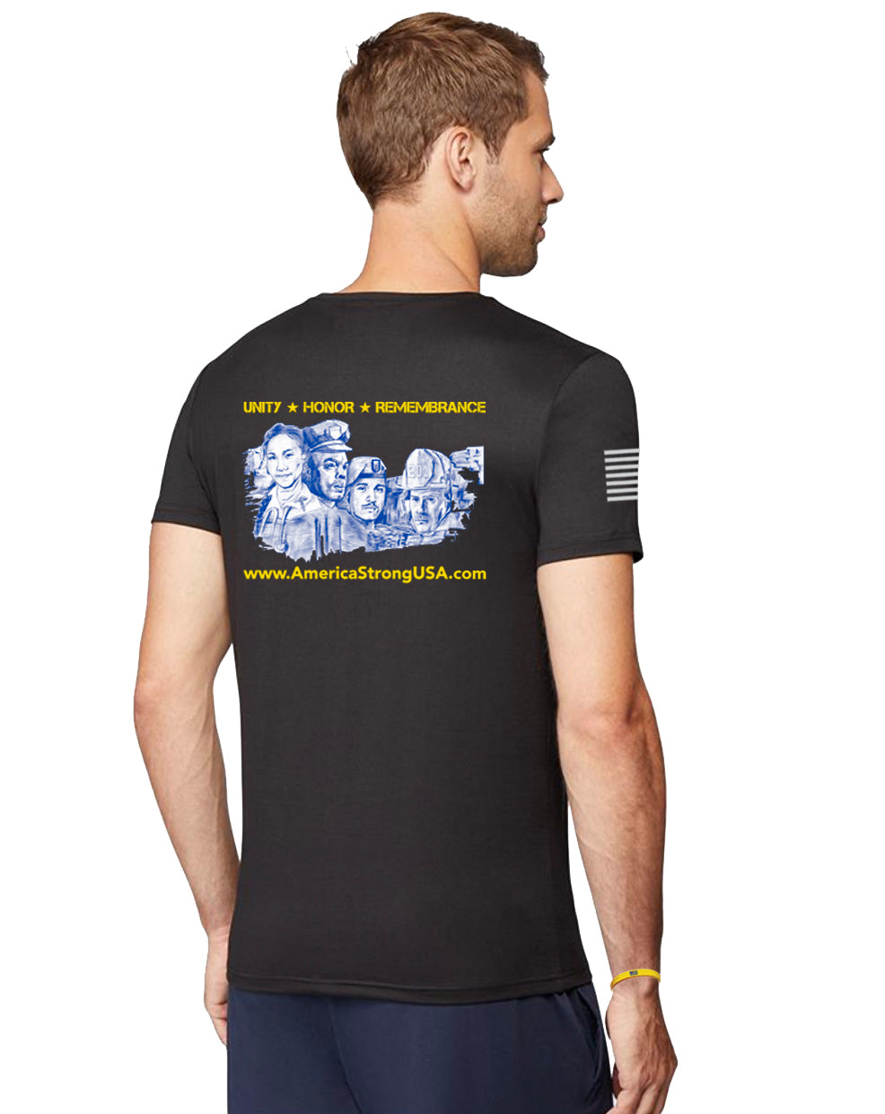 Men's Performance Short Sleeve T-Shirt, Mount Rushmore, Style #46001