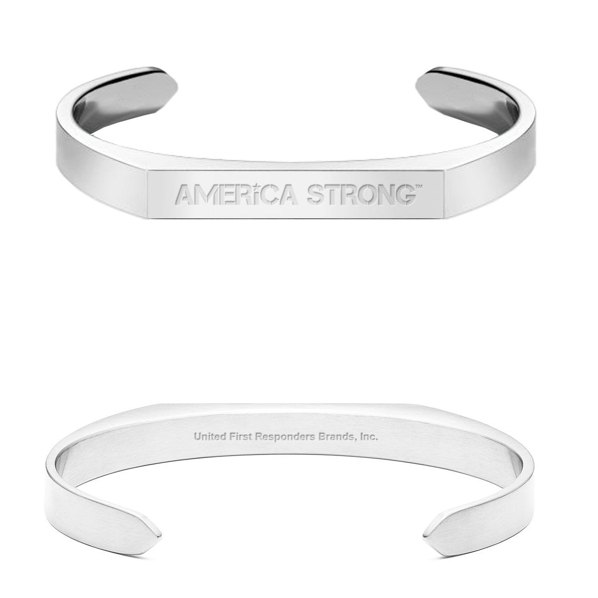 Stainless Steel America Strong Cuff Bracelet